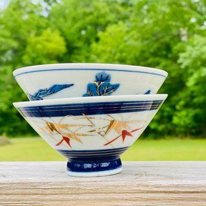 VTG Hand Painted Japanese Rice Dish or Finger Bowl